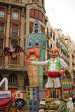 Fallas - colorful funny figures Stock Photo