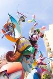 Fallas de Valencia en el fest popular de Denia figura Imagen de archivo libre de regalías