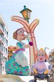 Fallas de Valencia en el fest popular de Denia figura Foto de archivo libre de regalías