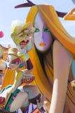 Fallas de Valencia en el fest popular de Denia figura Imagen de archivo