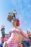 Fallas de Valencia en el fest popular de Denia figura Fotos de archivo