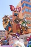Fallas de Valencia en el fest popular de Denia figura Imagenes de archivo