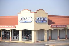 Fallas Discount Stores, Fort Worth, Texas. Fallas Discount Stores is a clothing, furniture and merchandise store offer deals, discounts and slashed prices on royalty free stock image