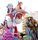 Fallas fest figures on Valencia province Royalty Free Stock Photos
