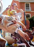 Fallas fest figures on Valencia province Stock Images