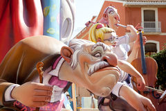Fallas fest figures on Valencia province Stock Photography