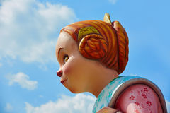Fallas fest figures in Valencia traditional Spain Stock Image