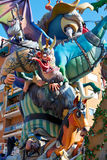 Fallas fest figures in Valencia traditional Spain Stock Photo