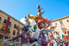 Fallas fest figures in Valencia traditional Spain Stock Photography