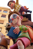 Fallas fest figures in Valencia traditional Spain. Fallas fest figures in Valencia traditional celebration at Spain in March Royalty Free Stock Photo