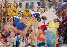Fallas fest figures in Valencia traditional Spain Royalty Free Stock Images