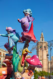 Fallas fest figures in Valencia traditional Spain Royalty Free Stock Photography
