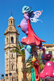 Fallas fest figures in Valencia traditional Spain Royalty Free Stock Photo