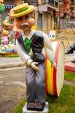 Fallas - figure divertenti variopinte Fotografia Stock Libera da Diritti