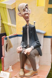 Fallas - figure divertenti variopinte Immagine Stock