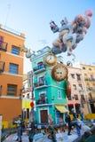 Fallas nella le figure del fest di Valencia che bruceranno il 19 marzo Fotografia Stock