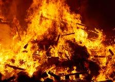 Fallas podpala palenie w Walencja fest przy Marzec 19 th Obraz Stock
