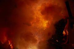 Fallas popular fest burning cartoon figures Stock Photo