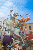 Fallas is a popular fest in Valencia Spain figures will be burne Stock Images