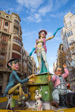 Fallas is a popular fest in Valencia Spain figures will be burne Royalty Free Stock Image
