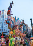 Fallas is a popular fest in Valencia Spain figures will be burne Royalty Free Stock Photography