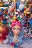 Fallas postacie w Walencja popularnym fest Hiszpania zdjęcie royalty free