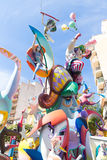 Fallas of Valencia in Denia popular fest figures. In Spain Stock Photo
