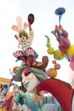 Fallas of Valencia in Denia popular fest figures Royalty Free Stock Photography