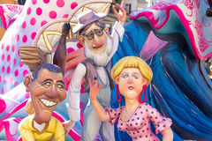 Fallas of Valencia in Denia popular fest figures Stock Photography