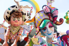 Fallas of Valencia in Denia popular fest figures Royalty Free Stock Images