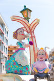 Fallas of Valencia in Denia popular fest figures Royalty Free Stock Photo