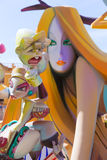 Fallas of Valencia in Denia popular fest figures Stock Image