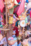 Fallas of Valencia in Denia popular fest figures Stock Photos