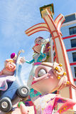 Fallas of Valencia in Denia popular fest figures Royalty Free Stock Image