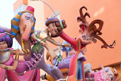 Fallas of Valencia in Denia popular fest figures Stock Images