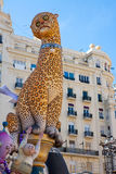 Fallas in Valencia fest figures that will burn on March 19 Royalty Free Stock Photography