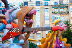 Fallas in Valencia fest figures that will burn on March 19 Stock Photo