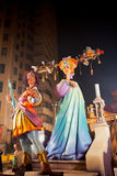 Fallas in Valencia fest figures that will burn on March 19 Royalty Free Stock Image