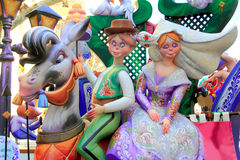 Fallas Valencia papier mache popular fest figures Royalty Free Stock Images