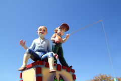 Fallas Valencia papier mache popular fest figures Royalty Free Stock Photography
