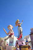 Fallas Valencia papier mache popular fest figures Stock Photos