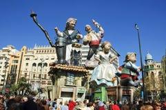 Fallas a Valencia, Spagna Fotografie Stock Libere da Diritti