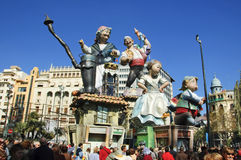 Fallas in Valencia, Spain. On march 17th of 2010 Royalty Free Stock Photos