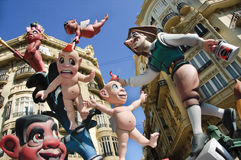 Fallas in Valencia, Spain. On march 17th of 2010 Stock Photography