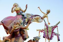 Fallas from Valencia, Spain celebration Stock Photo