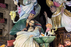 Fallas of Valencia Spain. Celebration Declared Patrimony of Hu Stock Photos