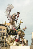 Fallas of Valencia. Spain. Fallas of Valencia. Papermache and polystyrene models are displayed during traditional celebration in praise of St Joseph. March 2013 Royalty Free Stock Photos