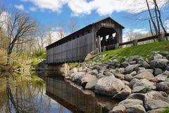 Fallasburg abgedeckte Brücke Lowell Michigan, USA Lizenzfreie Stockfotografie