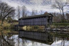 Fallasburg Covered Bridge in Michigan royalty free stock photo