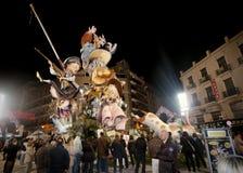 fallasfestivalen figures mache paper valencia royaltyfria bilder